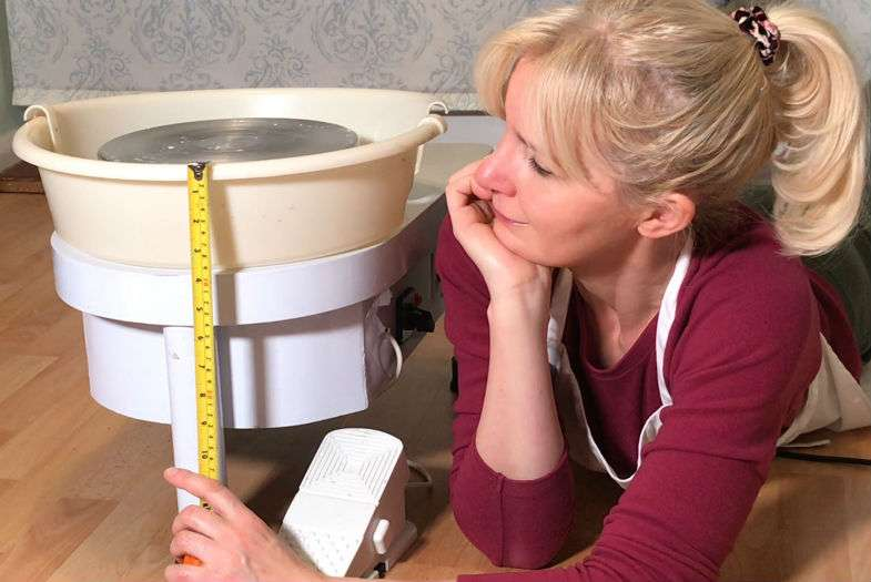 What height should a potters wheel be