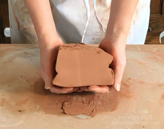 Wedging Clay step 10