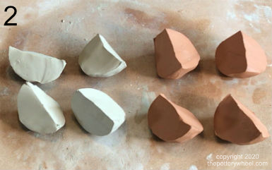 mixing different types of clay