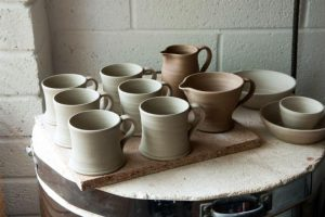 what is bone dry pottery