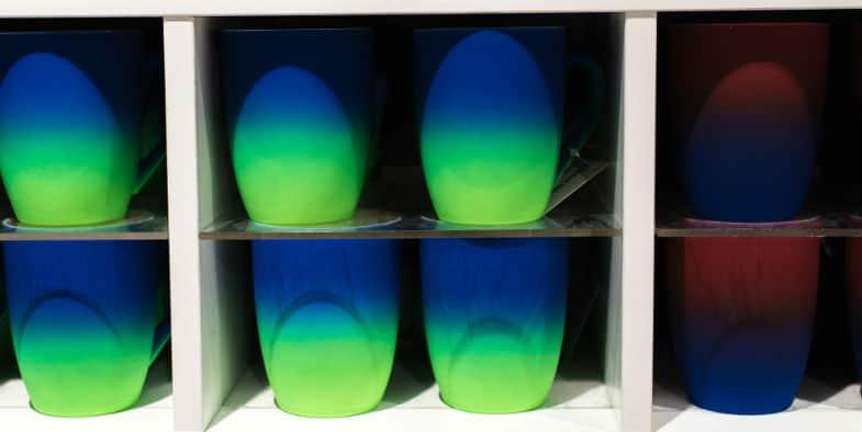 Airbrushing Underglaze on pottery