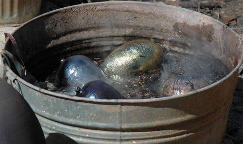 cleaning raku pottery