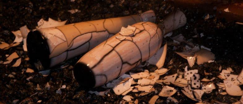 naked raku pottery