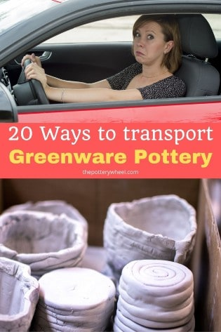 how to transport greenware pottery