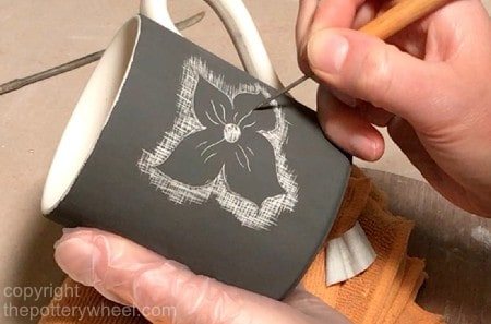 how to make sgraffito pottery with bisqueware