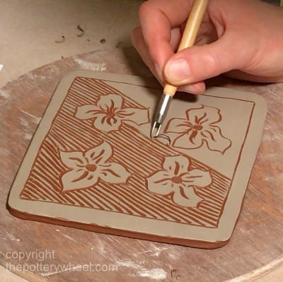 how to make sgraffito pottery with slip