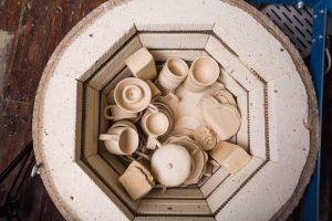 kiln on a wooden floor