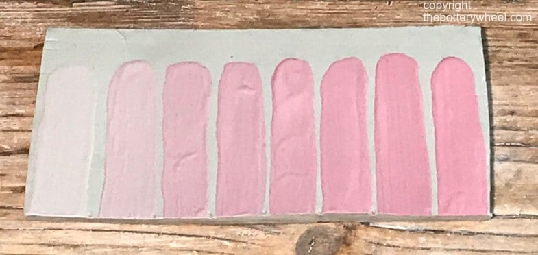 test tile for colored slip