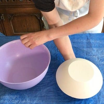 plaster hump mold for draping clay