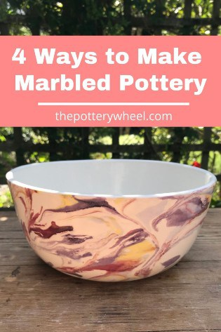 Ways to Make marbled pottery
