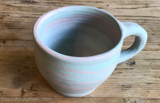 how to make a marbled clay mug