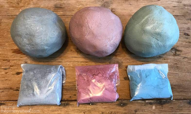 how to make colored clay