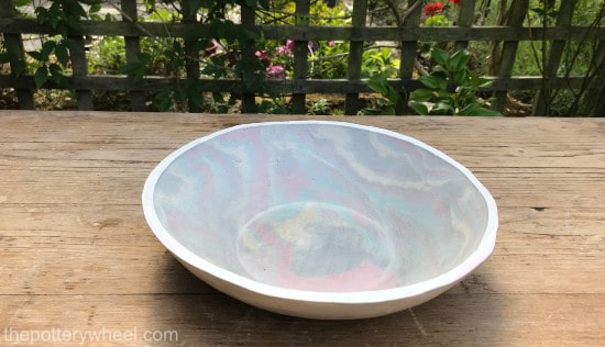 how to make marbled pottery