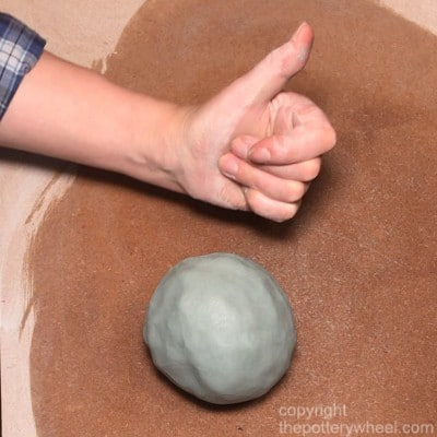 making colored clay using stains