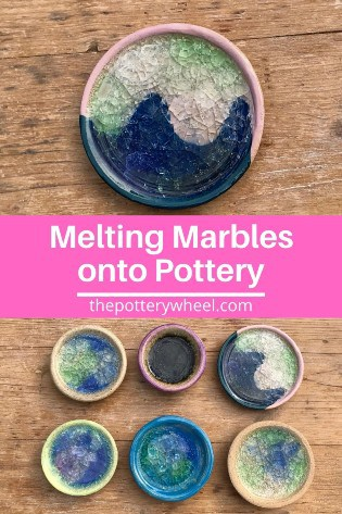 melting marbles in pottery