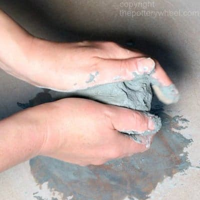 using stains to make colored clay