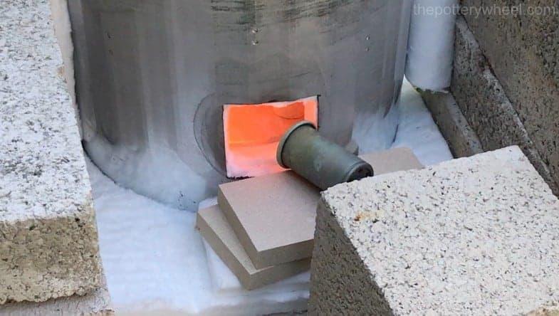 firing a DIY raku kiln