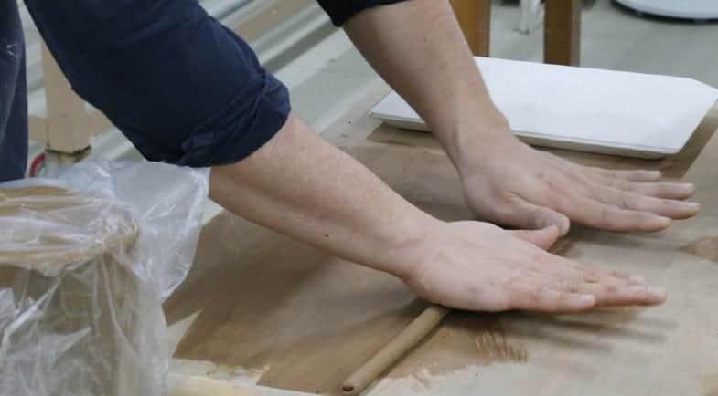 make a clay coil