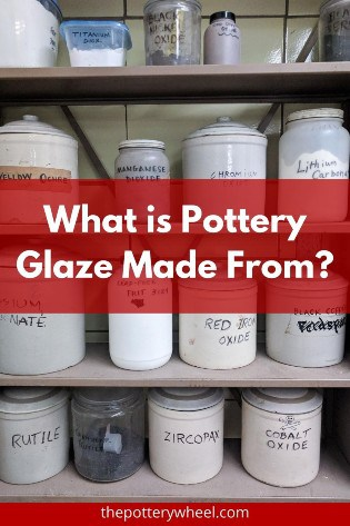 what is pottery glaze made of