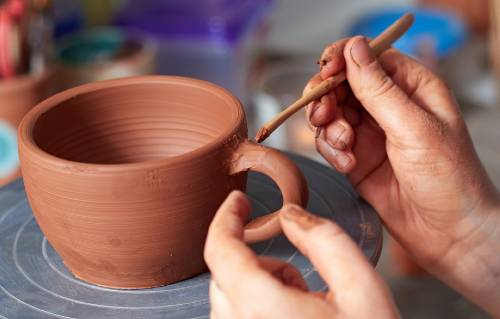 what is leather hard clay