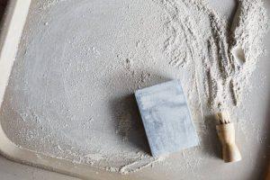 sanding pottery