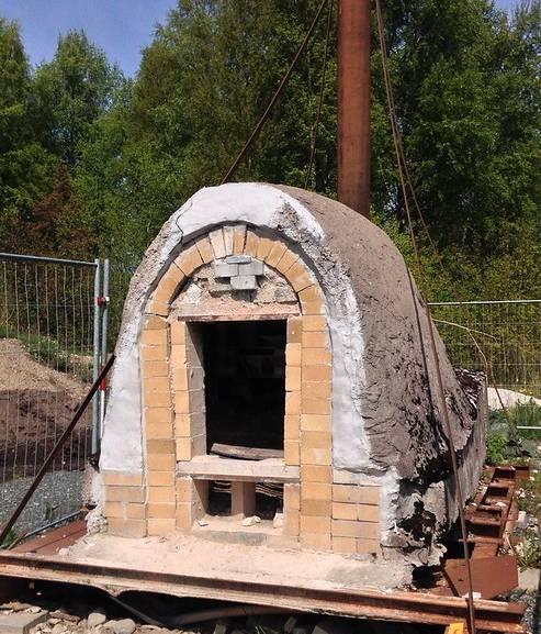 wood burning kiln