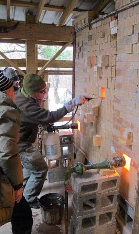 soda firing kiln