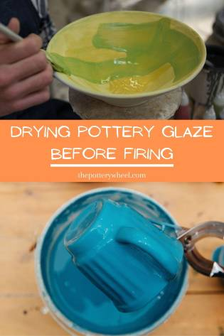 how long should pottery glaze dry before firing