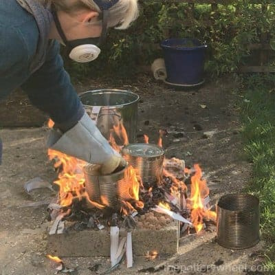 copper fuming raku firing