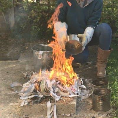 copper matte raku firing