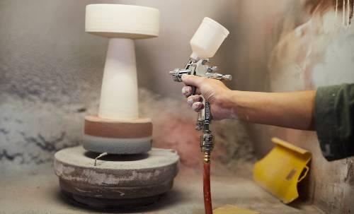 glaze pottery at home