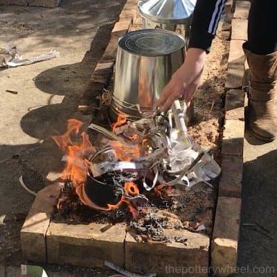 making copper matte raku