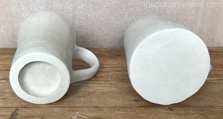making a pinch pot mug