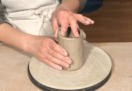 how thick should a pinch pot be