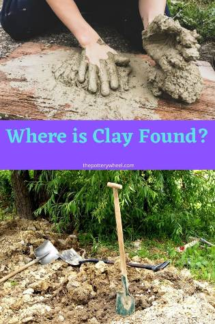 where is clay found