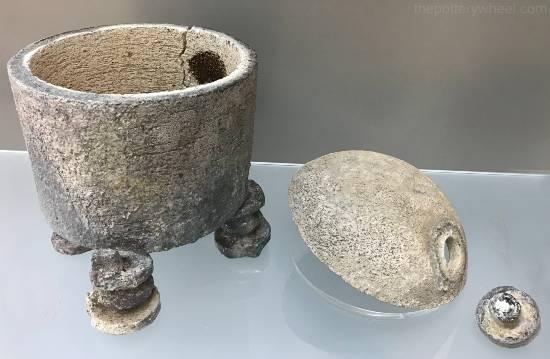saggar for japanese raku pottery