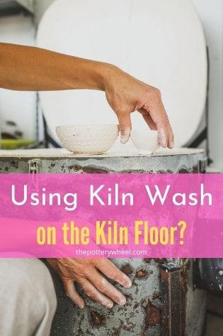 kiln wash on the kiln floor